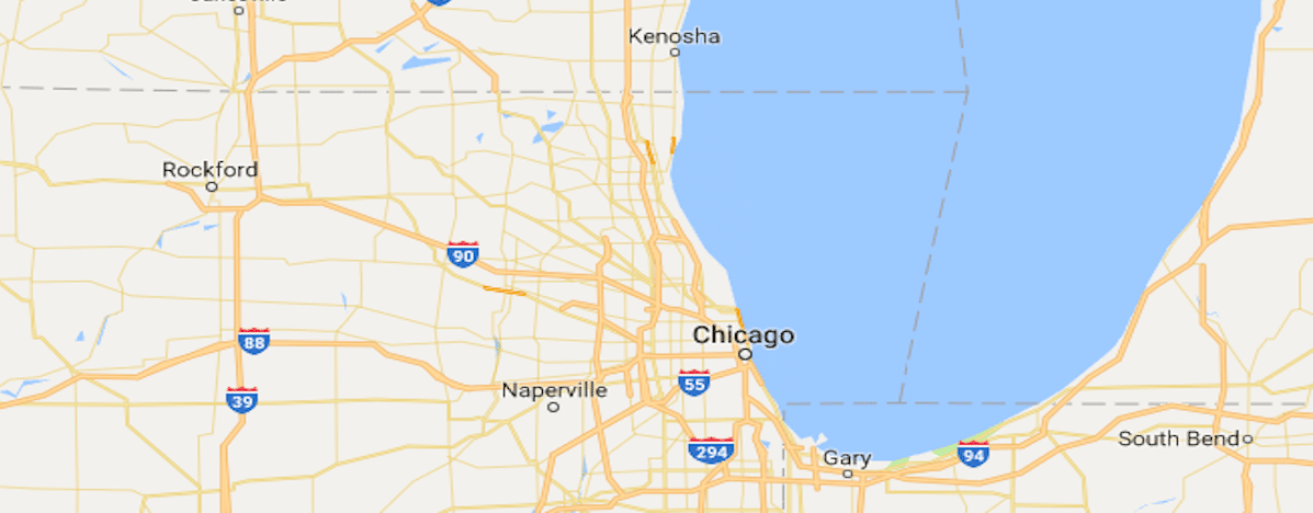 Map of Chicago Area