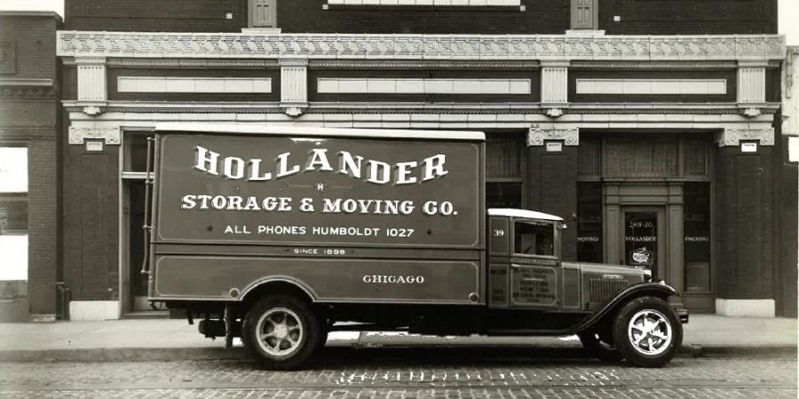 1935 Hollander Chicago Moving & Storage truck